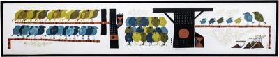 David Weidman Large 1960s Family of Birds Signed Handcrafted Silkscreen by David Weidman