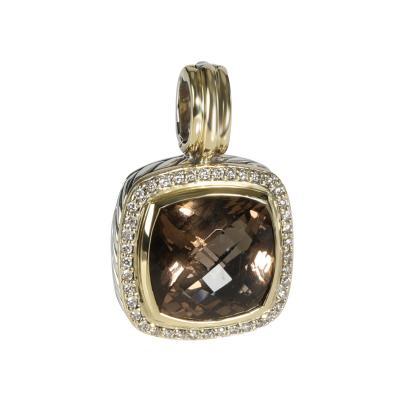 David Yurman David Yurman Albion Citrine Diamond Pendant in 18K Gold Sterling Silver 0 82CT