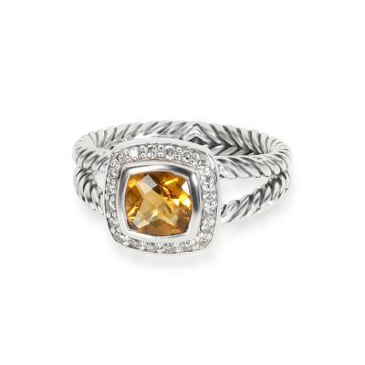 David Yurman David Yurman Albion Citrine Diamond Ring in Sterling Silver 0 25 CTW