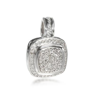 David Yurman David Yurman Albion Diamond Pendant Enhancer in Sterling Silver 0 56 CTW