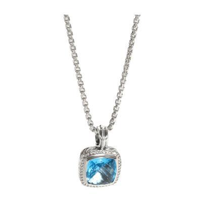 David Yurman David Yurman Albion Topaz Diamond Pendant in 14K Gold Sterling Silver 0 32 ctw