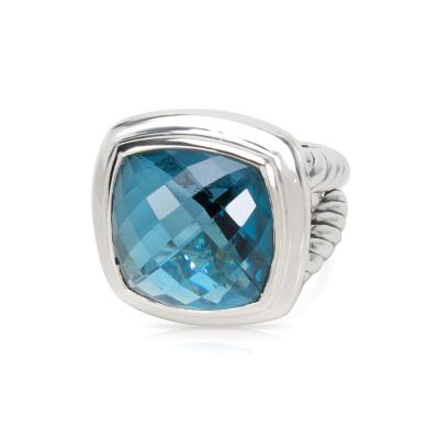 David Yurman David Yurman Blue Topaz Albion Ring in Sterling Silver
