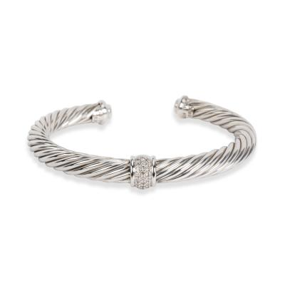 David Yurman David Yurman Cable Classics Bracelet with Diamonds 7mm 0 27 CTW
