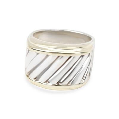 David Yurman David Yurman Cigar Band in 14K Yellow Gold Sterling Silver