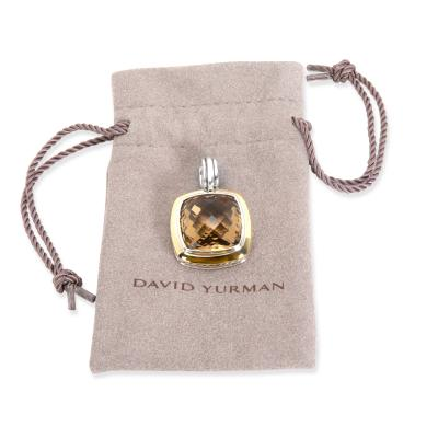 David Yurman David Yurman Citrine Pendant in 18K Yellow Gold Sterling Silver Champagne