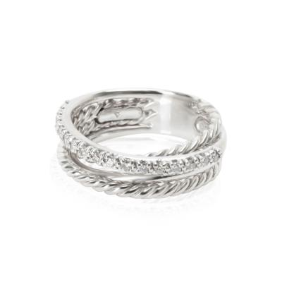 David Yurman David Yurman Crossover Diamond Ring in Sterling Silver 0 17 CTW