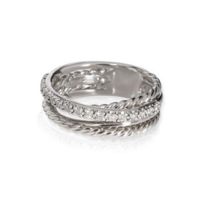 David Yurman David Yurman Crossover Diamond Ring in Sterling Silver 0 18 CTW