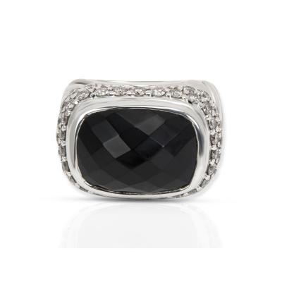 David Yurman David Yurman Diamond Fashion Ring in Sterling Silver 1 35 CTW