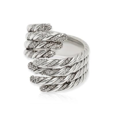 David Yurman David Yurman Diamond Willow Ring in Sterling Silver 0 33 CTW