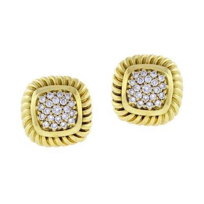 David Yurman David Yurman Fluted Pav Diamond Alboin Earrings