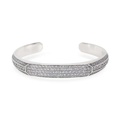 David Yurman David Yurman Heirloom Grey Sapphire Mens Cuff in Sterling Silver