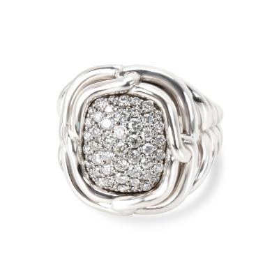 David Yurman David Yurman Labyrinth Diamond Ring in Sterling Silver 1 CTW