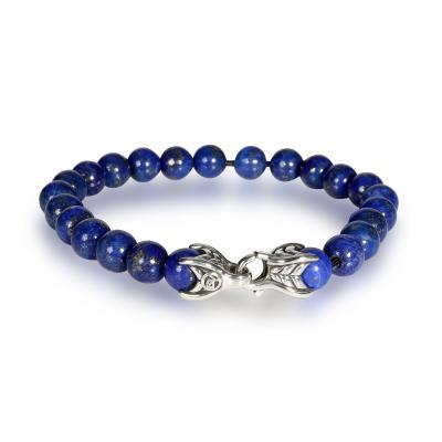 David Yurman David Yurman Lapis Lazuli Spiritual Beads Bracelet in Sterling Silver