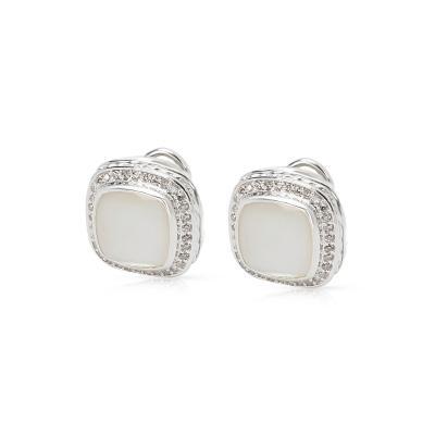 David Yurman David Yurman Mother of Pearl Albion Earrings in Sterling Silver