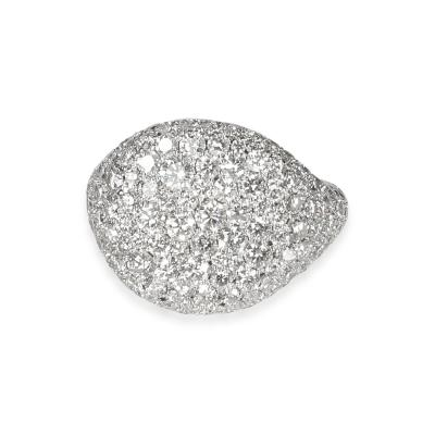 David Yurman David Yurman Pave Diamond Pinky Ring in 18K White Gold 2 65 CTW