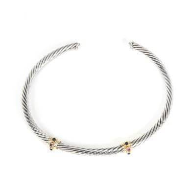 David Yurman David Yurman Renaissance Cable Choker Necklace in Sterling Silver