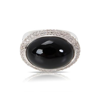 David Yurman David Yurman Signature Black Onyx Diamond Ring in Sterling Silver