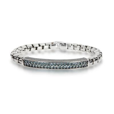 David Yurman David Yurman Streamline Sapphire Bracelet in Sterling Silver