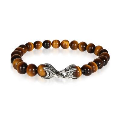 David Yurman David Yurman Tiger Eye Spiritual Beads Bracelet in Sterling Silver