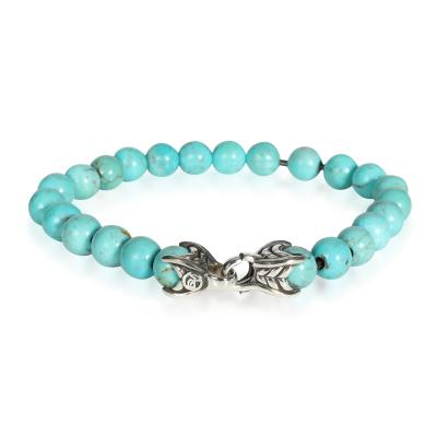 David Yurman David Yurman Turquoise Spiritual Beads Bracelet in Sterling Silver