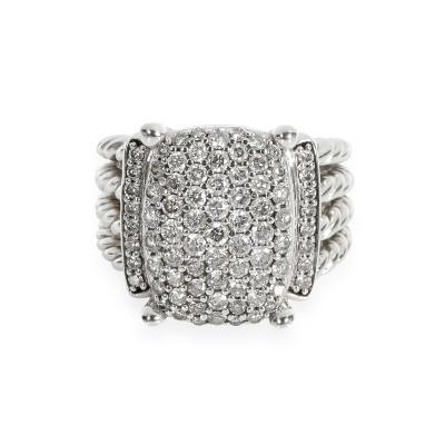 David Yurman David Yurman Wheaton Diamond Ring in Sterling Silver 1 12 CTW