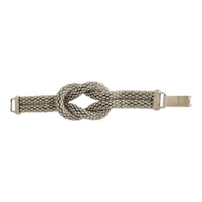 David Yurman Sculptural Twisted French Cable Bracelet in Aluminum Double Band Art Deco Era