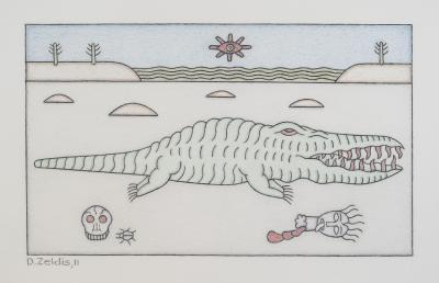 David Zeldis Crocodile in the Desert