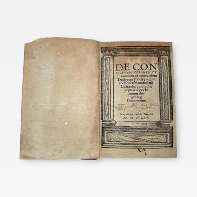 De Conjugio Episcoporum et Diaconorum by Bugenhagen 1525