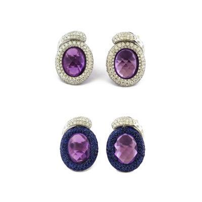 De Grisogono Violetta Amethyst Diamond Earrings