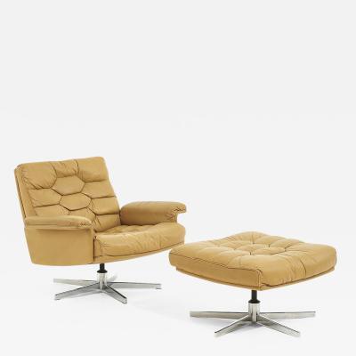 De Sede DS 35 Swivel Chair and Ottoman Robert Haussmann Switzerland 1970