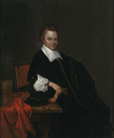 De Wit 1593 Portrait of a Sitting Man Oil on Panel