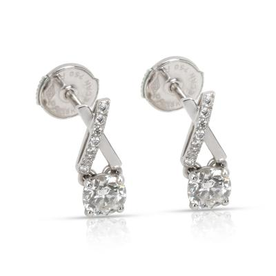 DeBeers Promise Diamond Stud Earrings in 18K White Gold 0 68 CTW