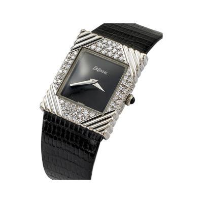 DeLaneau Diamond Tuxedo Wristwatch