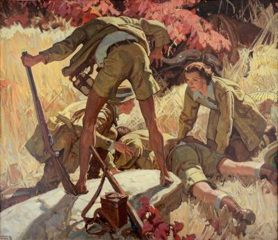 Dean Cornwell He Lay Face Down The Short Happy Life of Francis Macomber