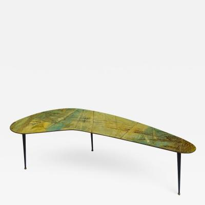 Decalage Decalage Gruppo dArte Coffee Table in Metal and Painted Wood