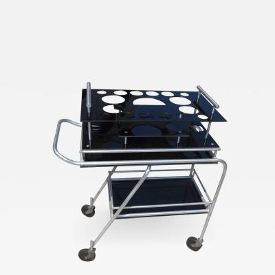 Deco DC3 Aero Art Cocktail Trolley Cart with Rare Serving Tray