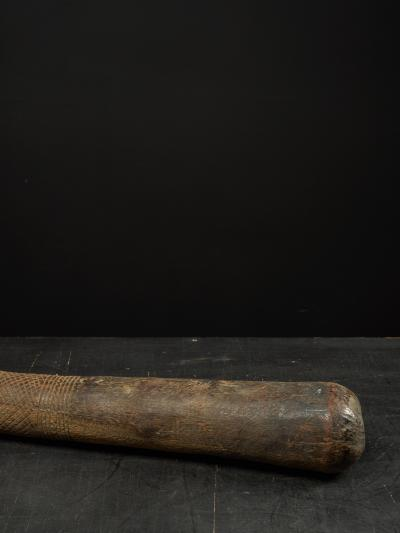 Decorated Heavy Old Wood Pestle