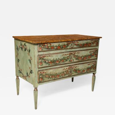 Decorated Venetian Neoclassical Commode