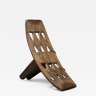 Decorated Wooden Backrest sculptured in one piece