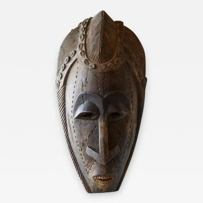 Decorative African Hand Carved Wood Mask circa 1960s