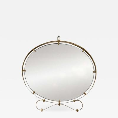Decorative Brass Italian Wall Mirror in Style of Jean Royer