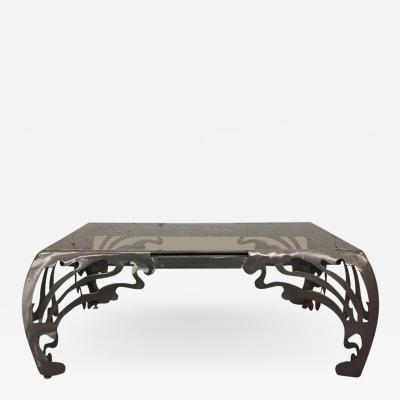 Decorative Brushed Steel Coffee Table