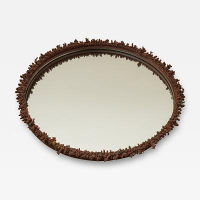 Decorative Iron Frame Round Mirror