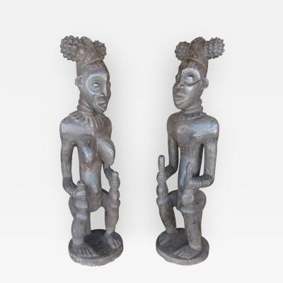 Decorative Large Impressive Hand Carved African Statues from Cameroon