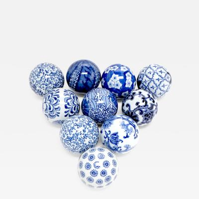 Decorative Porcelain Carpet Balls Set of Ten