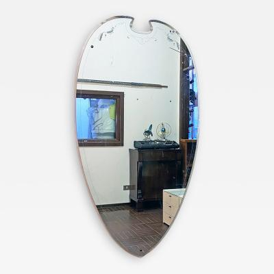 Decorative mirror with white pattern 1950s