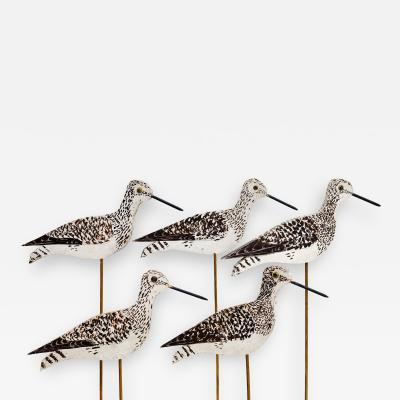 Decoy Group of Five Shore Birds