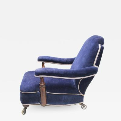 Deep Blue Club Chair