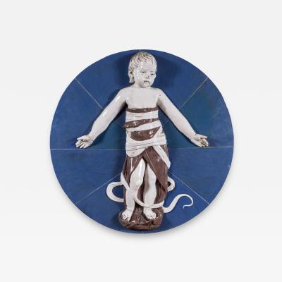 Della Robbia Grand 19th Century Della Robbia Medallion