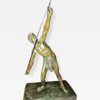 Demetre Haralamb Chiparus Bronze Art Deco Sculpture The Javelin Thrower by Demetre Chiparus